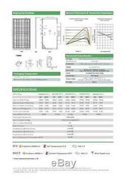 10 X 400 Watts Jinko Mono Panneaux Solaires Nouveaux Gros! Niveau 1 Grade A