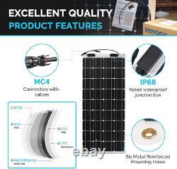 100 Watt 12 Volt Extrêmement Flexible Monocrystalline Solar Panel