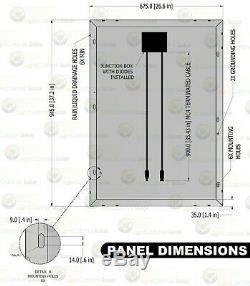 100 Watt Mono Solaire Kit Panneau Avec Contrôleur De Charge & Wire Kit Monocristallins