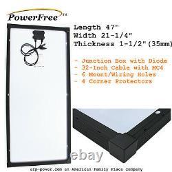100w 100 Watt Mono Panneau Solaire Pour Off Grid La Volt Battery Rv Bateau Chargeur