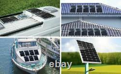 100w 100 Watt Panneau Solaire Monocristallin 12v Chargeur De Batterie Maison Rv Marine Car