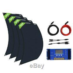 100w 200w 400w 600w Watt Kit Panneau Solaire Flexible Pour Rv Marine Charge De La Batterie