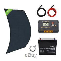 100w 200w Watt 12v Flexible Panneau Solaire Kit 50ah 100ah rv Marine Charge De La Batterie