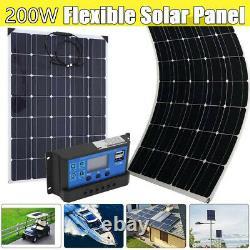 100w 200w Watt Panneau Solaire Kit 12volt Battery Charge Controller Rv Caravan Boat