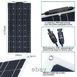 100w Flexible Solar Panel Kit 100watt Solar Charger Pour Home Outdoor Rv Car Boat