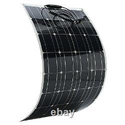 100w Watt Solar Panel Kit 12v Batterie Flexible Charge Pour Camping Rv Imperméable À L'eau