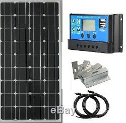 100watt 150w 200w Kit Panneau Solaire 12 Volt Chargeur De Batterie Rv Voyage Camper Van