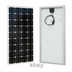 100watt Mono Solar Panel Kit 12v Charge De Batterie Pour Rv Boat Caravan Off Grid