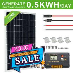 120w 240w Watt Kit Panneau Solaire À Haute Efficacité Pour Chargeur De Batterie Remorque Accueil