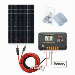 120w Watt Mono Panneau Solaire Kit De Démarrage 20a LCD Contrôleur Chargeur Pour Batterie Rv