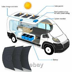 130w Watt 12 Volt Panneau Solaire Flexible Mono Charge De Batterie Pour Le Camping De Bateau Rv
