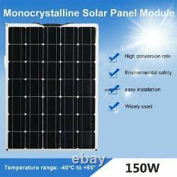 150w Classe A Semi-flexible Solar Panel 150watt 18v Chargeur De Batterie Pour Bateau Rv
