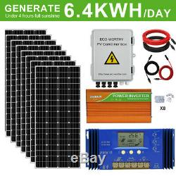 1600w 1200w 800w 600w 400w 200w Watt Kit Panneau Solaire Pour La Maison Rv Marine Shed États-unis