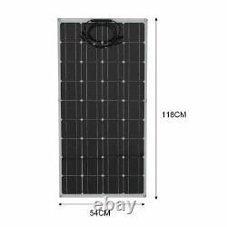 160w Watt Solar Panel Kit 18v Battery Charge Controller Rv Camper Boat Flexible