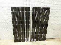 2- 175 Watt 12 Volt Chargeur De Batterie Panneau Solaire Hors Réseau Rv Bateau Totale De 350 Watts