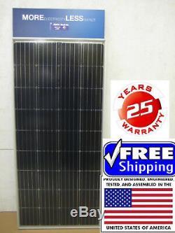 2- 200 + 25% 12 Watt Volt Chargeur De Batterie Panneau Solaire Hors Réseau Rv Bateau 400+ 25% W