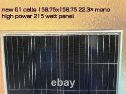 2- 215 Watt 12 Volt Chargeur De Batterie Panneau Solaire Hors Réseau Rv Bateau 430 Watt Total