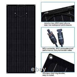2 Pack 100 Watt Etfe Panneaux Solaires Flexibles Light & Slim Monocrystallin Nouveau