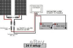 200 Watt Mono Panneau Solaire Kit 12v 200w 12-volt Charge De La Batterie Rv Bateau Hors Réseau