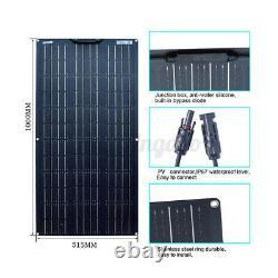 200 Watt Panneau Solaire Flexible Cellulaire Module Kit Pour Rv Camping 12v / 24v Étanche