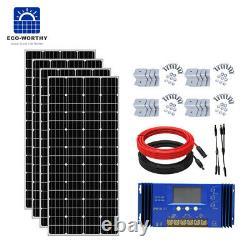 200w 400w 600w 800w Watt Kit Solaire Panneau Pour Charge De La Batterie Et Contrôleur Accueil Rv