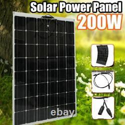 200w Classe A Flexible Solar Panel 200watt 18v Chargeur De Batterie Pour Rv Boat USA