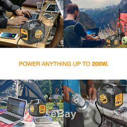 200w Power Station Portable Avec Options De Sunpower 50 Watts Panneau Flexible