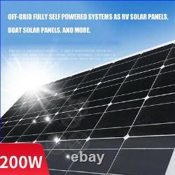 200w Watt 18v 248° Panneau Solaire Flexible Mono Pour Rv Rooftop Boat Off Grid Nouveau