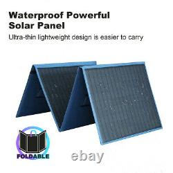 200w Watt Portable Pliable Solar Panel Kit Home Chargeur De Batterie Rv Camping Boat