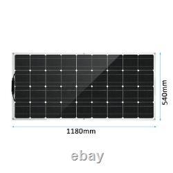 200w Watts Solar Panel Cell 18v Flexible Module Kit Waterproof For Rv/car/boat