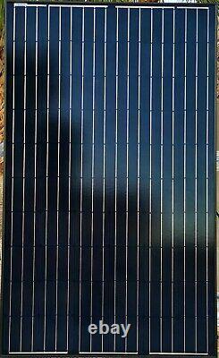 255 Watt Mono 24v Panneaux Solaires Tous Noirs Tier 1 Nouveau Grade A Lot De 6 1.53kw