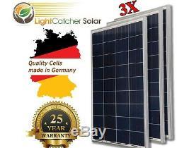 (3 Pièces) 100w Watts 100 Watt Panneau Solaire Hors Réseau 12 Volt 12 V Rv Bateaux Hors Réseau +