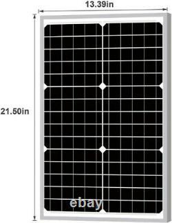 30 Watt 12vdc Panneau Solaire + Pwm 10 Amp 12vdc Contrôleur De Charge Intelligent Régulateur