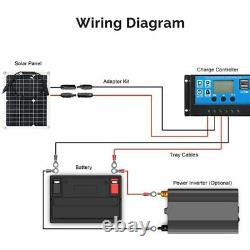 300w 600 Watt Portable Panneau Solaire Monocristallin 18v Rv Chargeur De Batterie De Voiture