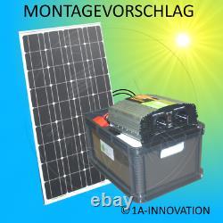 300w Système Solaire Pack Complet 220v Batterie 2x 100ah Panneau 1000w Camping Watt