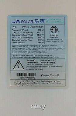 355 Watt Ja Panneau Solaire Jam6(k)-72-355/pr/1500v