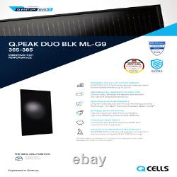 380 Watt Q Cell Panneaux Solaires Q Cells Q. Palette Peak Duo Blk Ml-g9 De 20