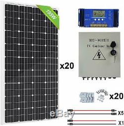 3900w Watt 20-195w Système Solaire Panneau Hors Réseau 48v Pour La Maison Abri De Jardin Ferme