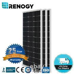 3pcs Renogy 100w Watt 12v Mono 300w Panneau Solaire (conception Compacte) Hors Puissance Du Réseau