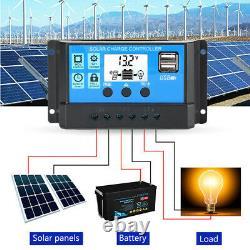 400w Watt Solar Panel System 12v/24v Off Grid Rv Boat Battery Charge Eu/us Stock
