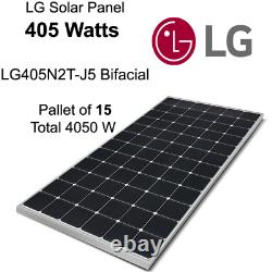 405 W Lg Panneau Solaire Lg405n2t-j5 Bifacial-pallet De 10-total Power 4050 Watts