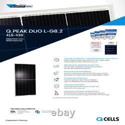 425 Watt Q Cellule Mono Duo Cellule Panneau Solaire G8.2 Palette De 20 Puissance 8500 Watts