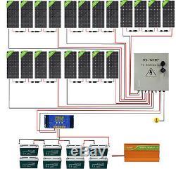 4kw Watt 48v Hors Réseau Panneau Solaire System20-195w Panneau Solaire Pour Jardin Etats-unis