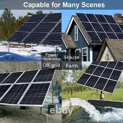4kw Watt 48v Hors Réseau Solar Panel System20-195w Panneau Solaire Pour Home Garden Us