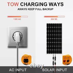 600w 800w 1200w Watt Panneau Solaire Kit 3kw 24v Chargeur Solaire Onduleur Ups Alimentation