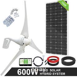 600w 800w 1200w Watt Solaire Hybride Wind Power Kit For Home Farm Charge De La Batterie