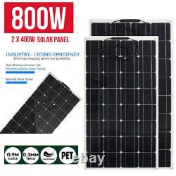 800w 400 Watt Monocrystallin Solar Panel Kit 18v Power Rv Chargeur De Batterie De Voiture