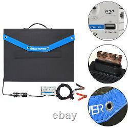 Acopower 12v 70 Watt Foldable Solar Panel Kit Portable Solar Charger Valise