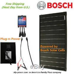 Bosch Plug-n-power Kit 30w 30 Watt Mono Panneau Solaire Chargeur De Batterie 12v Rv Boat