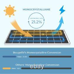 Bougerv 170 Watts Panneau Solaire 12 Volts Monocrystalline Chargeur De Cellules Solaires Hig